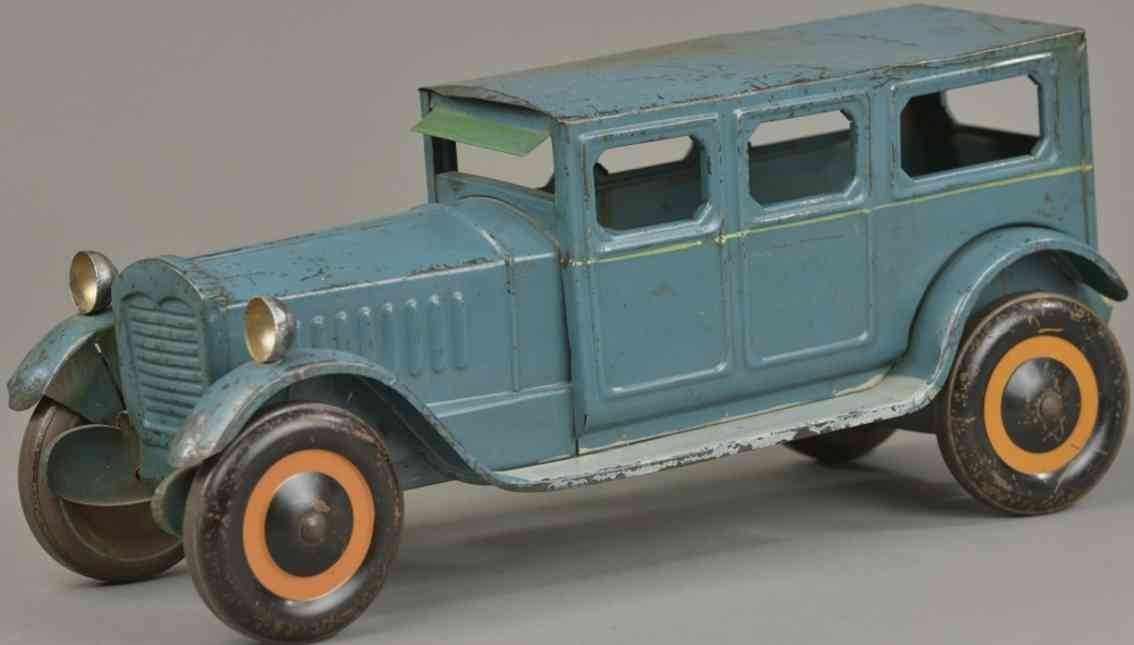 turner toys blech spielzeug auto lincoln blau