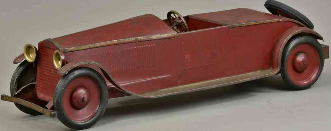 turner toys blech spielzeug auto packard roadster rot