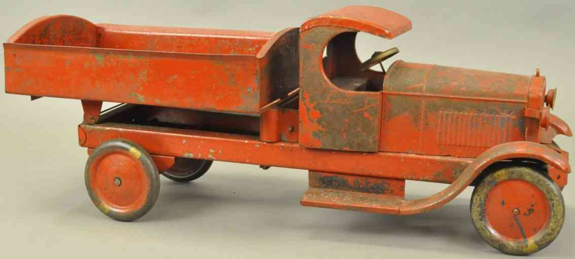 turner toys blech spielzeug lincoln kipplastwagen c-fahrerhaus  rot