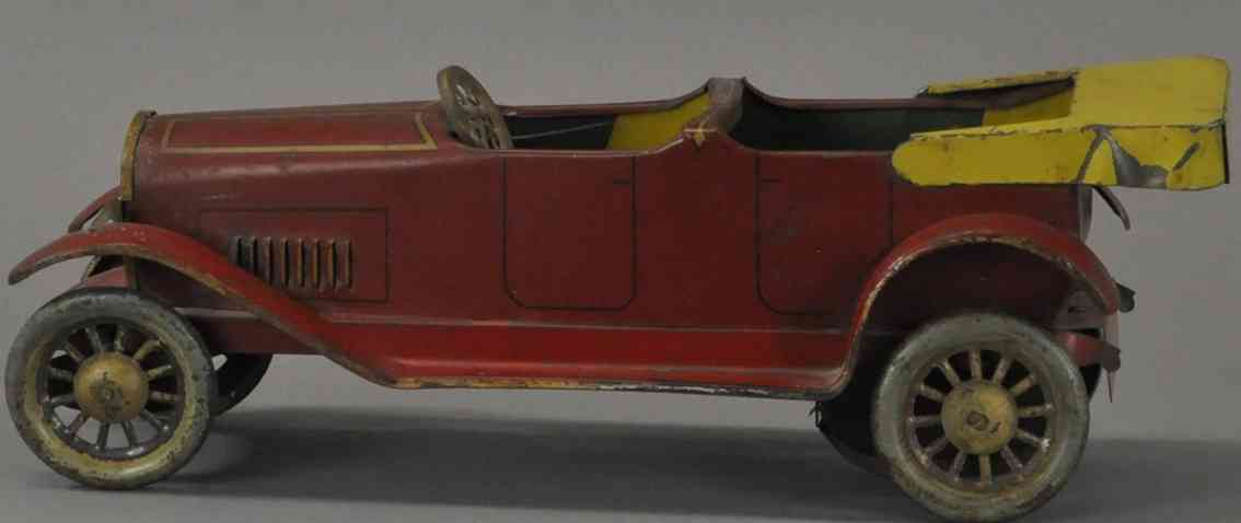 turner toys blech spielzeug auto roadster cabrio rot