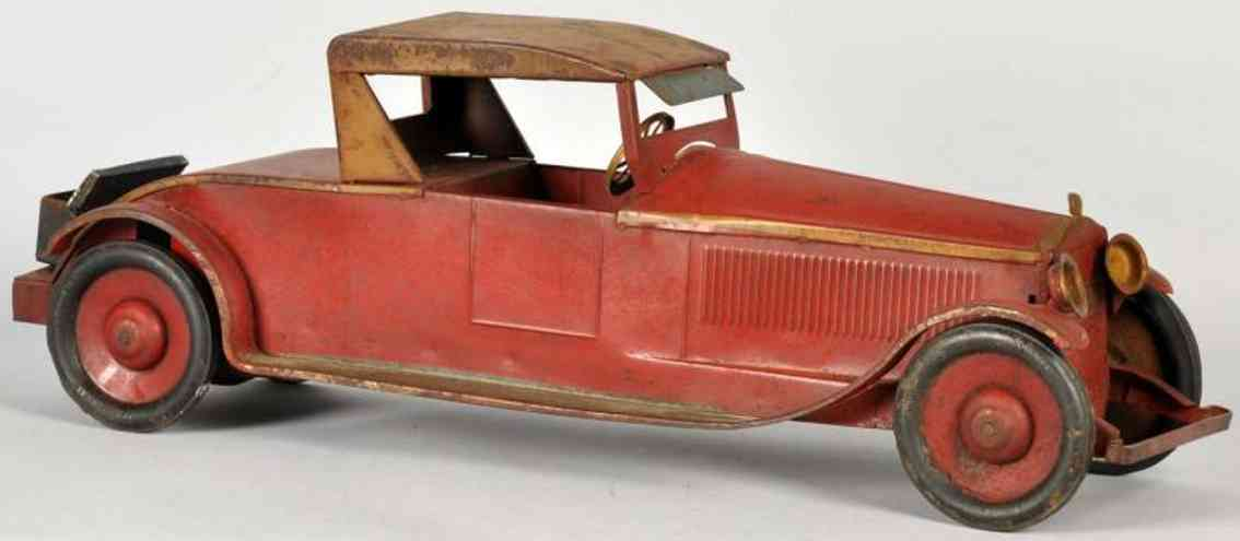 turner toys oldtimer roadster aus stahlblech in rot