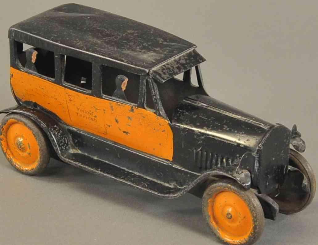 turner toys stahlblech spielzeug auto taxi orange schwarz