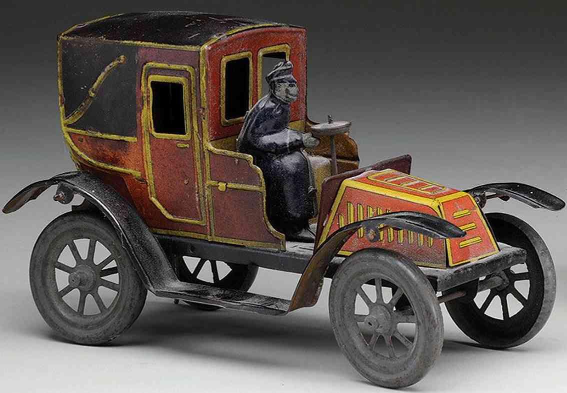 unknown blech spielzeug auto landau mit festen türen für die passagiere, lithografiert in