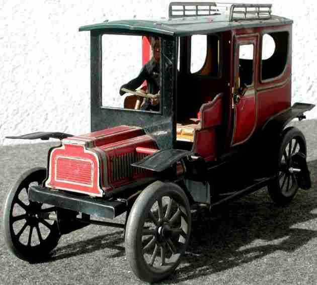 tin car limousine windup toy bing carette