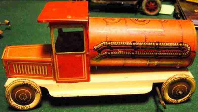 tin toy tanker with clockwork