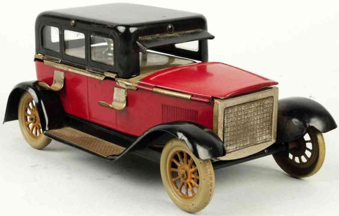 tin toy car automobile as inkwell red black ink pad