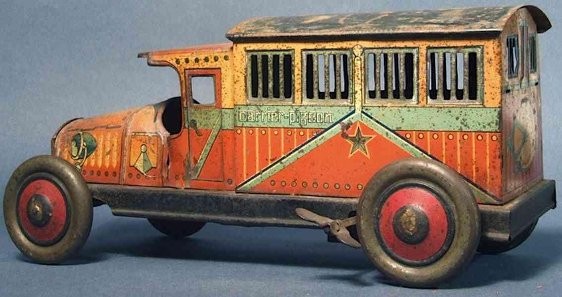 unknown blech spielzeug lastwagen transportmittelwagen ilthografiert, dieses japanische fahrze