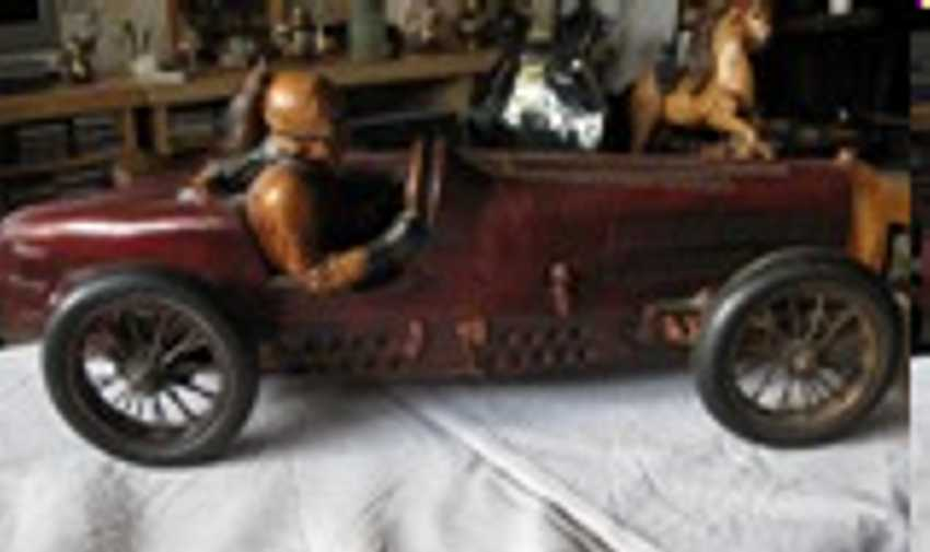 unknown wooden toy car old wood car with driver
