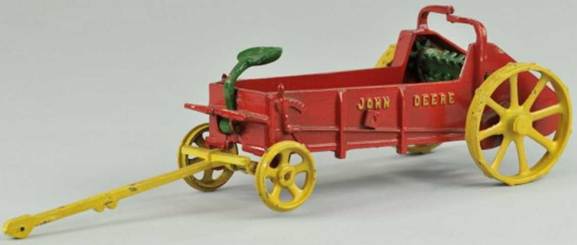 vindex 83 cast iron toy mccormick john deere manure spreader red