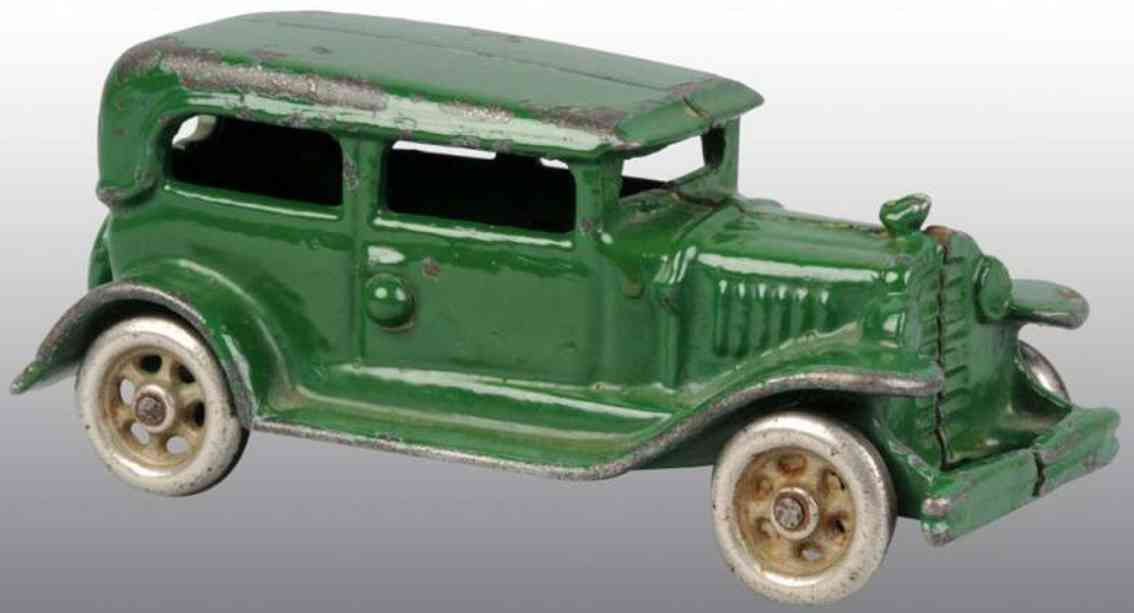 vindex cast iron toy car automobile green