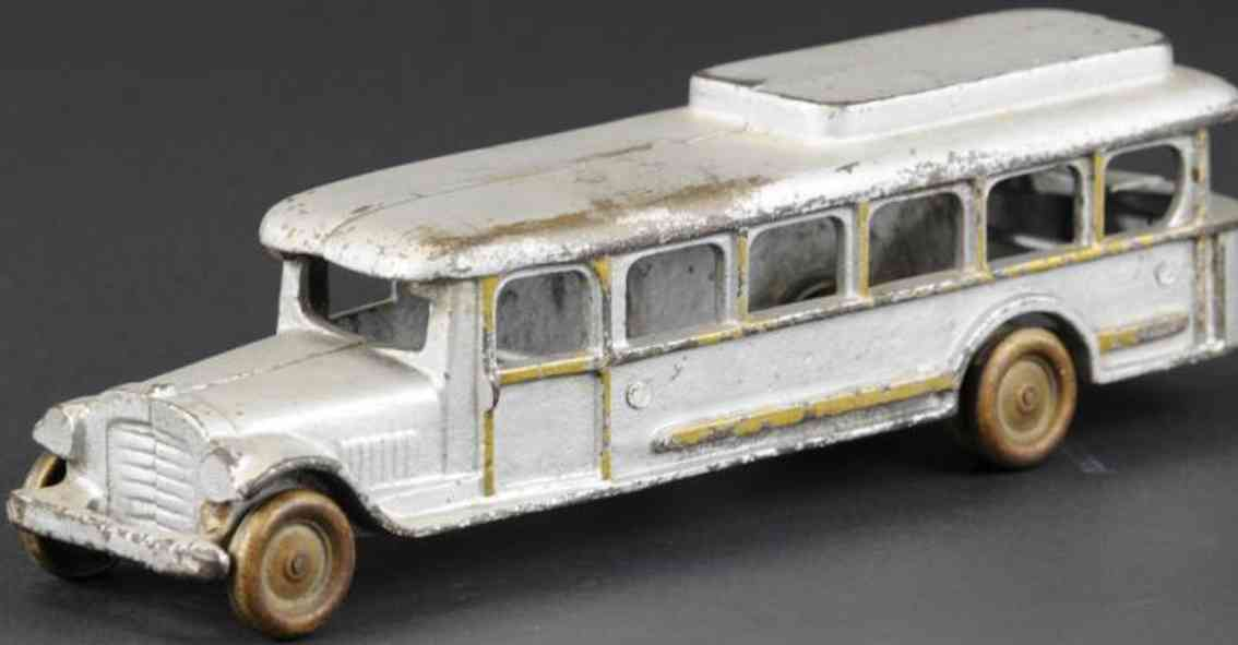 vindex cast iron toy bus silver