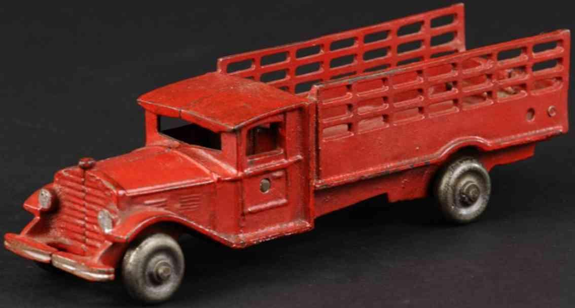 vindex spielzeug gusseisen lastwagen rungenwagen rot