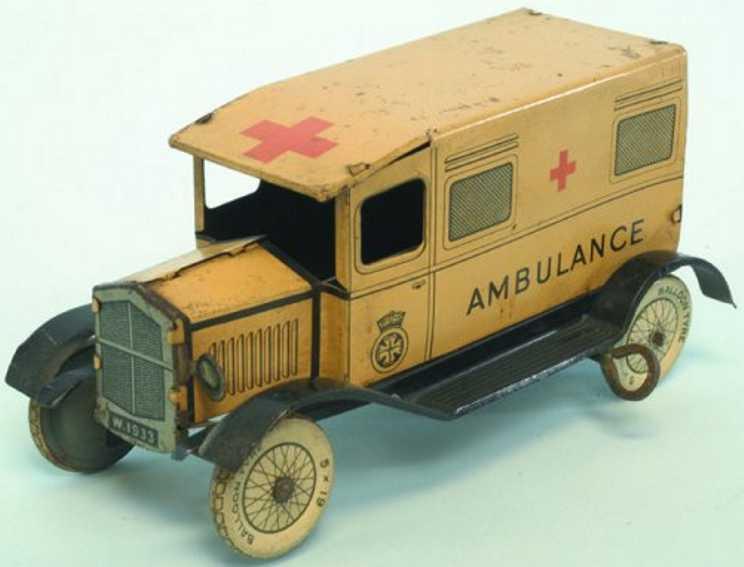 Wells Krankenwagen lithografiert