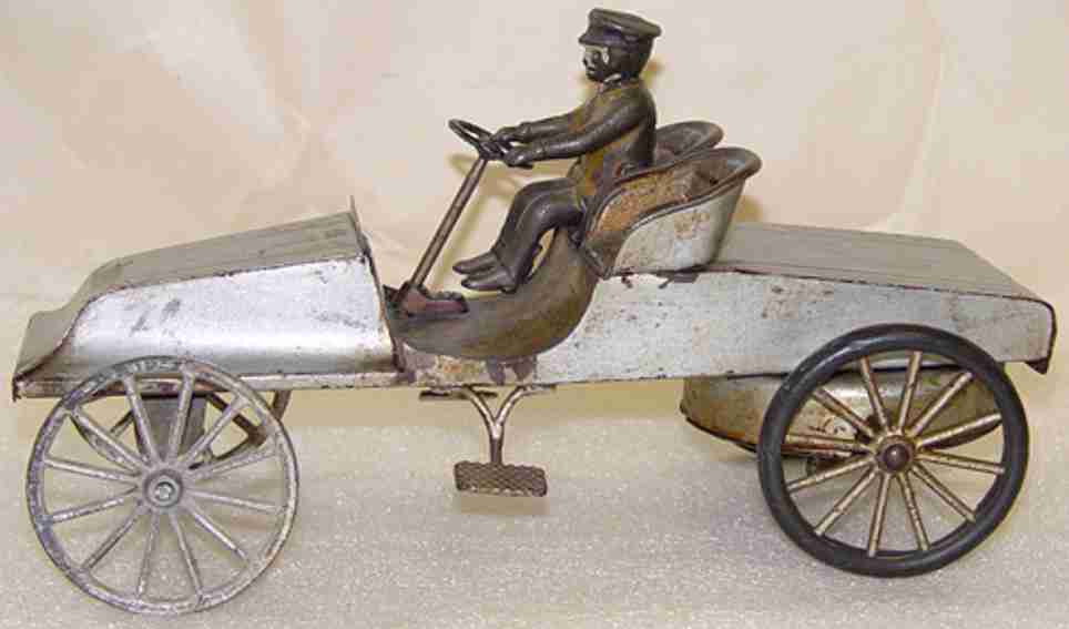 wilkins tin toy race car antique automobile racer with clockwork