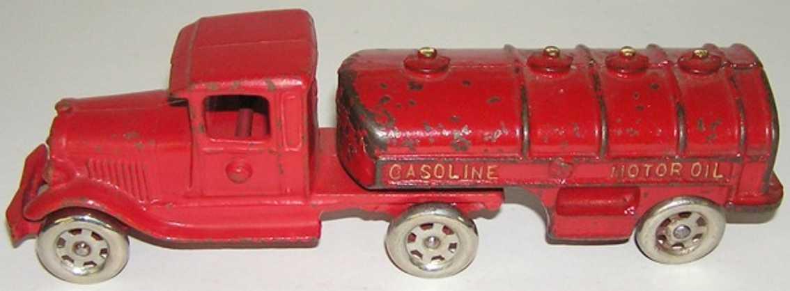 williams ac spielzeug gusseisen benzintanklastwagen rot
