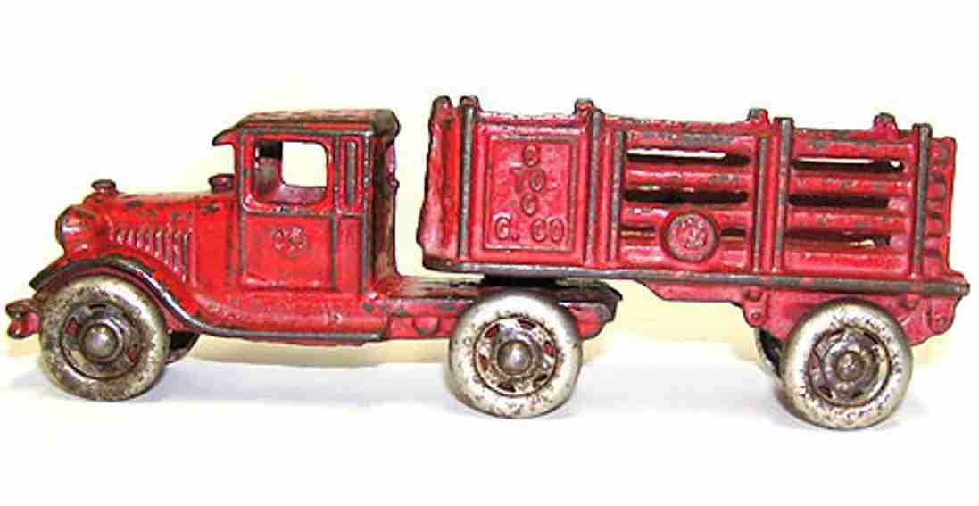 williams ac 2668 spielzeug gusseisen lastwagen rot