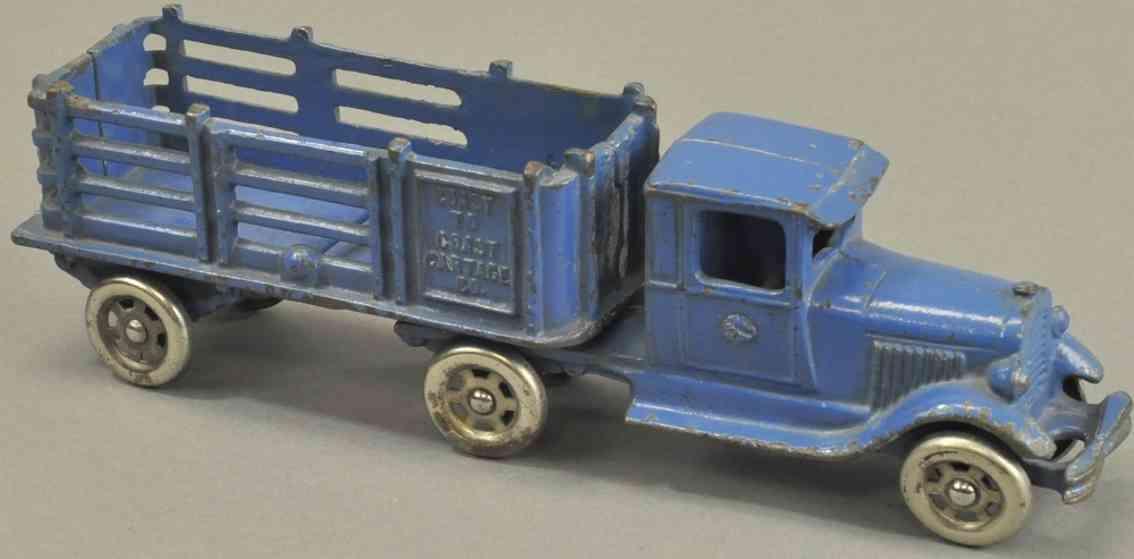 williams ac  spielzeug gusseisen lastwagen anhaenger rungen blau coast to coast
