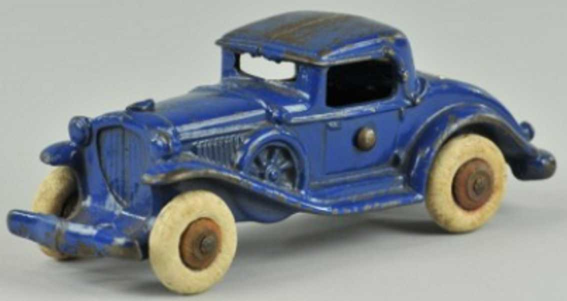 williams ac cast iron toy car coupe rumble seat  blue