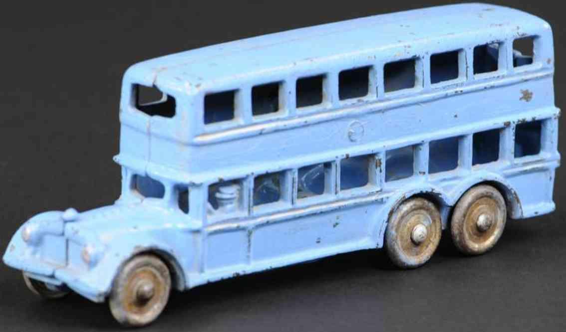 williams ac spielzeug gusseisen doppeldeckerbus blau