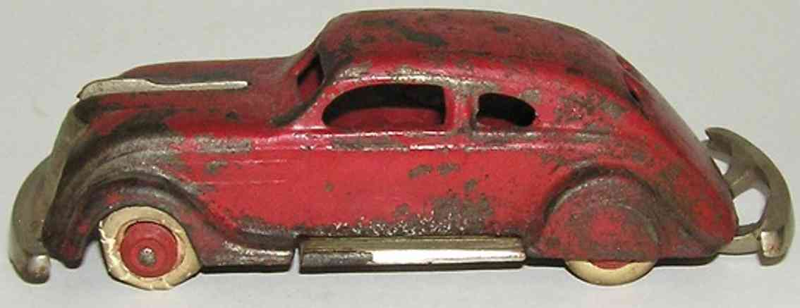 williams ac cast iron toy car airflow red