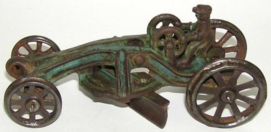 williams ac spielzeug gusseisen straßenkehrmaschine mit vernickelten rädern, gibt es in drei