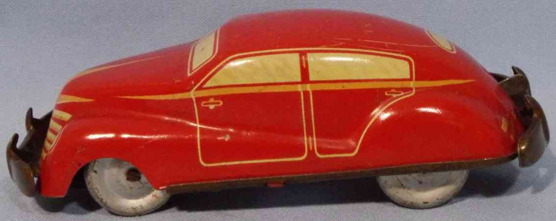wimmer heinrich hwn blech spielzeug auto kleines coupe rot
