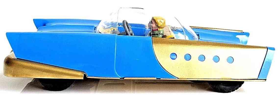 wimmer heinrich hwn plastik spielzeug auto futuristischer  rennwagen blau gold