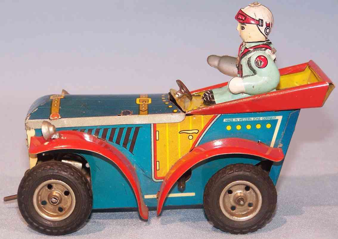 wunnerlein wuco 560 tin toy car driver clockwork