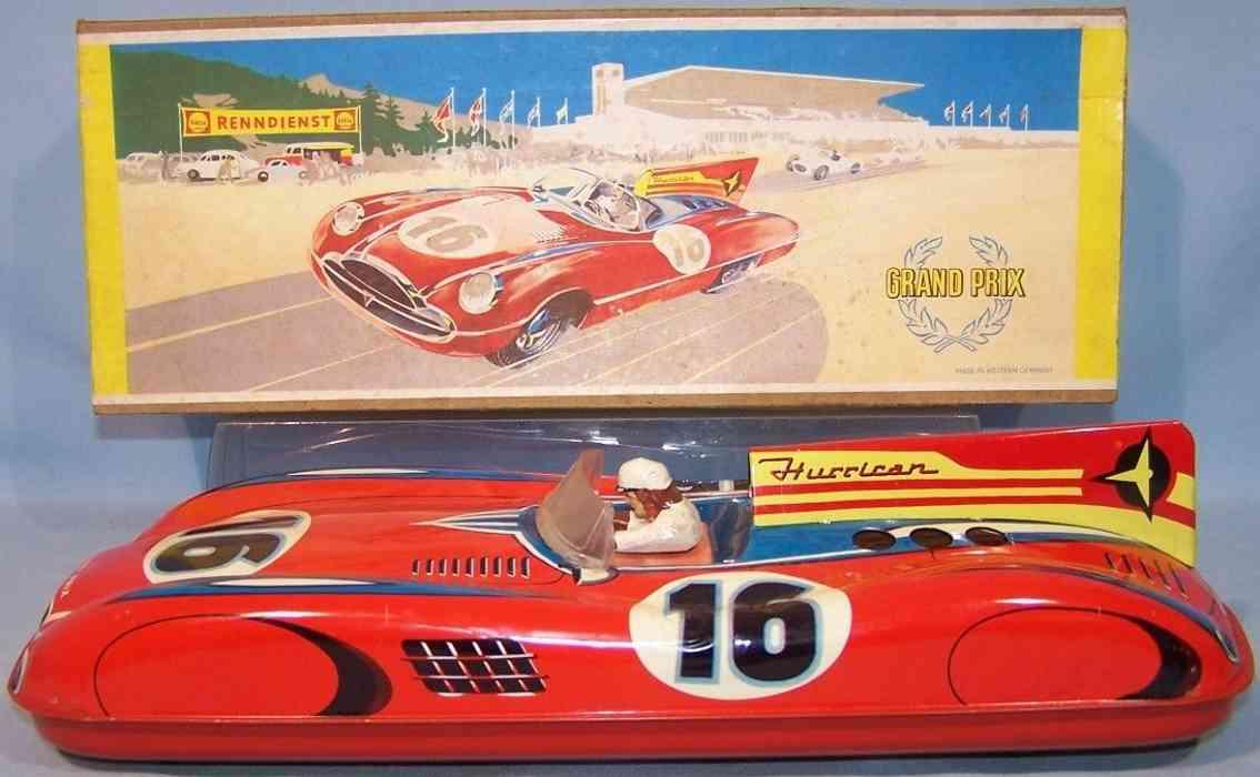 wuennerlein wueco 630 blech spielzeug rennauto rennwagen mit schwungradantrieb rot