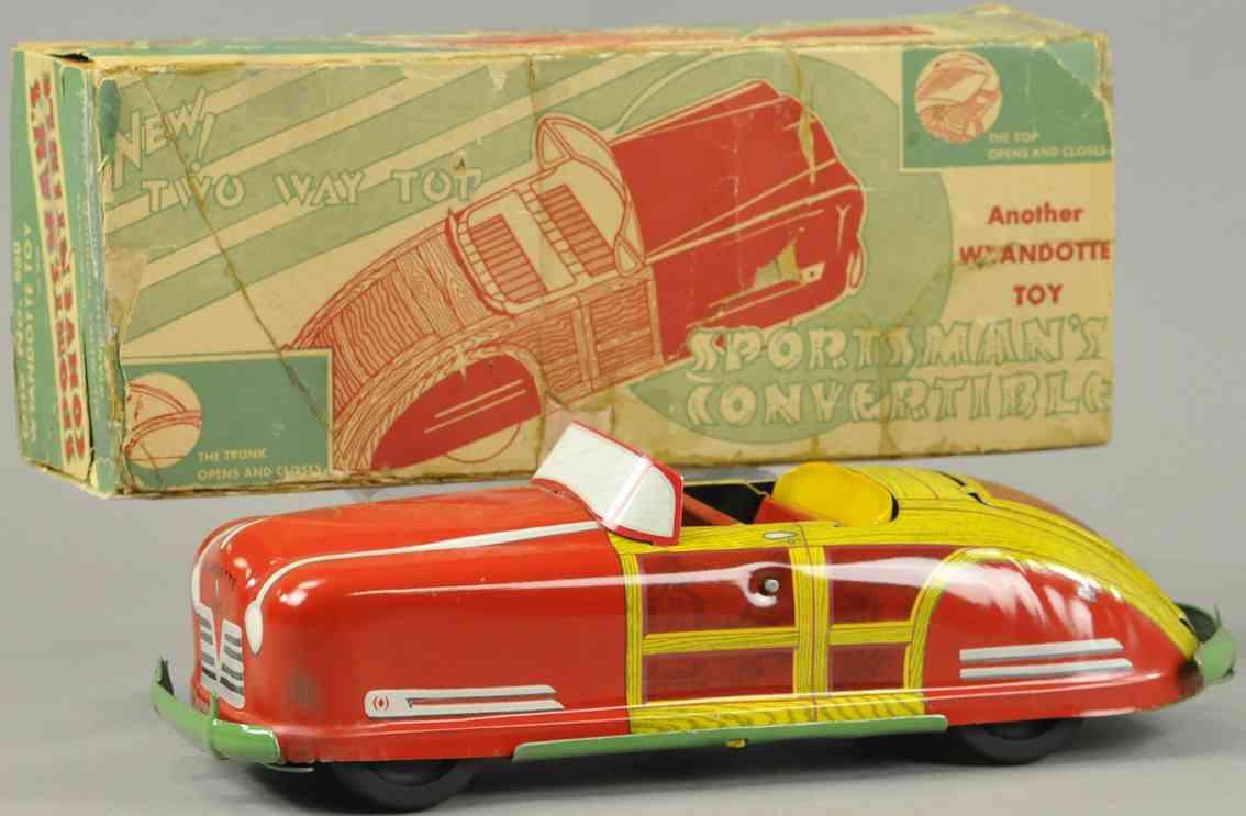 wyandotte 650 tin toy car sportsmans convertible