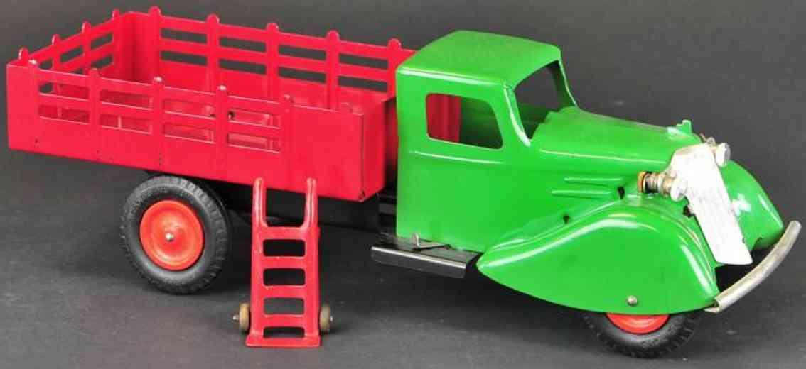 wyandotte stake stahlblech spielzeug lastwagen rot gruen