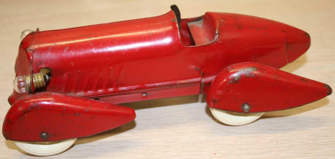 wyandotte 333 spielzeug rennauto rennwagen in rot aus stahlblech