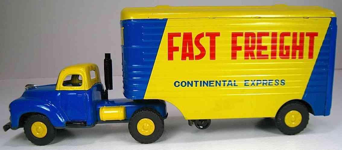 yamachi toys blech spielzeug lastwagen frachtcontainer-lastwagen in gelb und blau ähnelt dem sudeba
