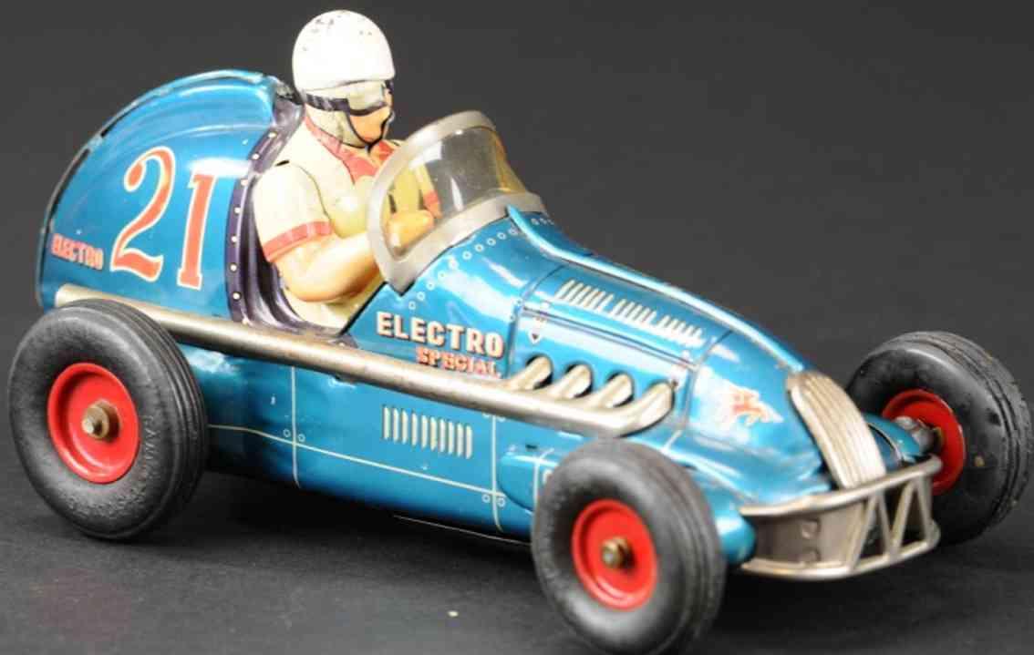 yonezawa 21 blech rennauto elektrischer blau fahrer batterie