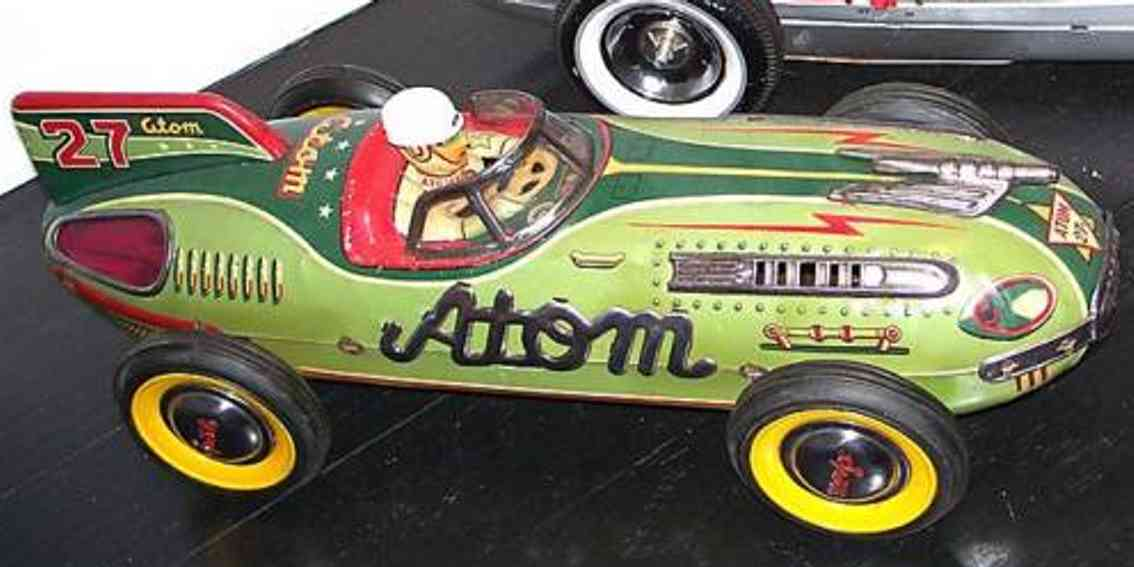 yonezawa tin toy race car atom racer