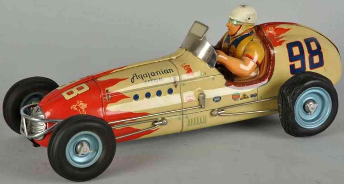 yonezawa 98 tin toy race car tin agajanian special