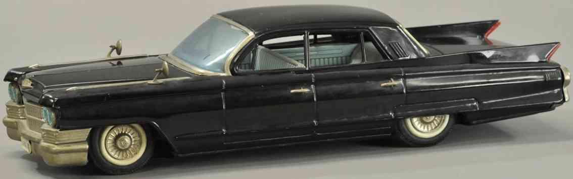 yonezawa blech spielzeug auto cadillac viere tueren schwarz uhrwerk