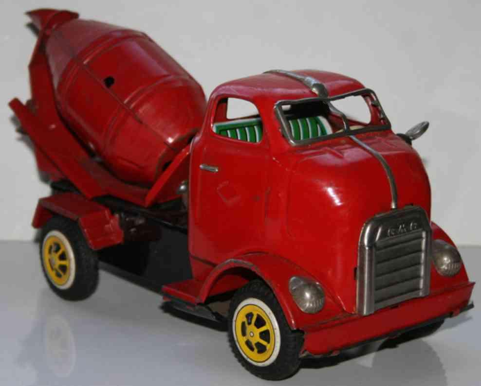 yonezawa blech spielzeug lastwagen mit zementmischer