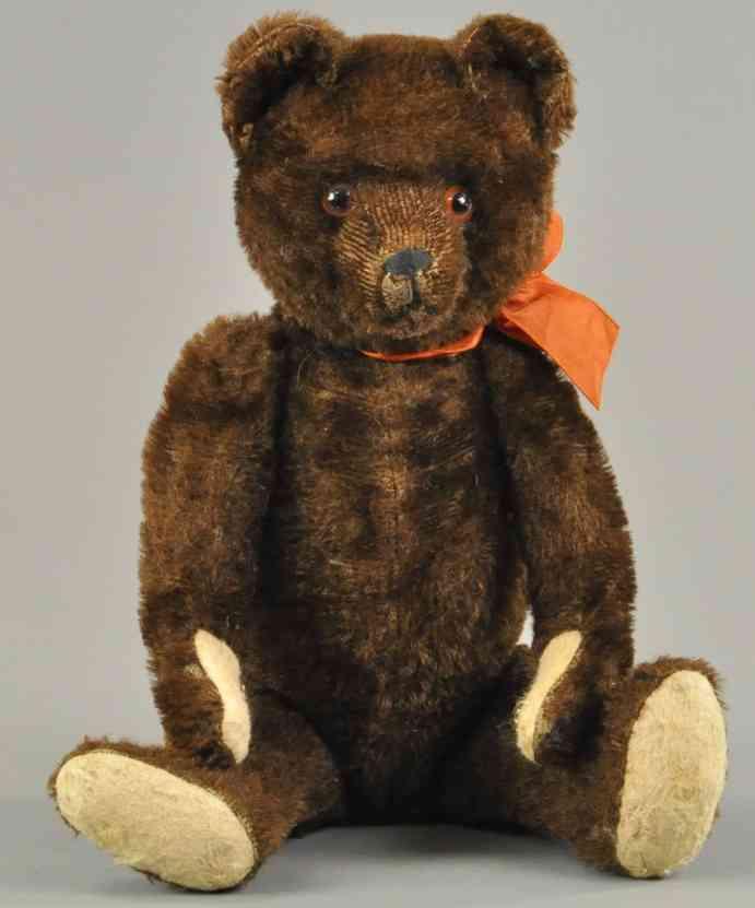 bing teddybaer dunkelbraunes mohair rasierte nase