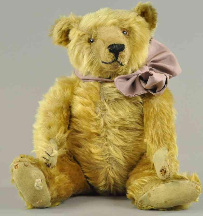 bing teddybaer  langem mohair glasaugen abgesteppte nase