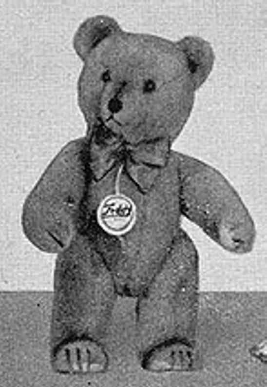 hermann 84/27 standing bear plush wool