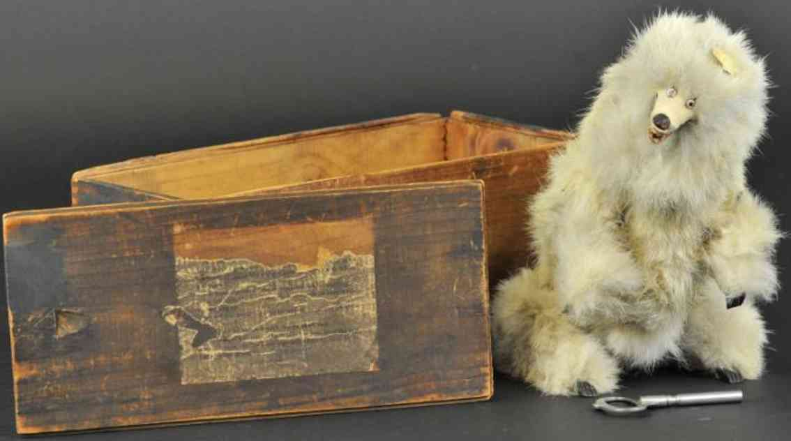 ives bear toy white fur version clockwork