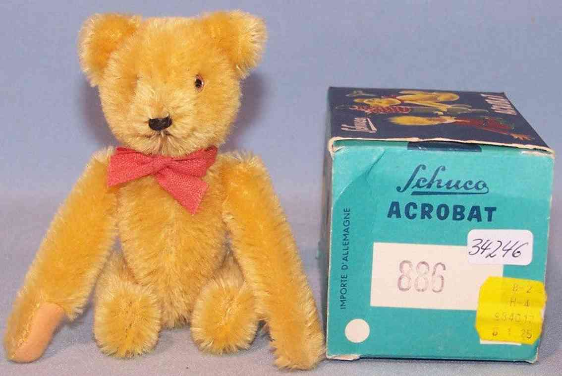 schuco 886 bear acrobat teddy mohair clockwork