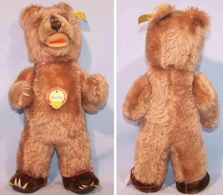 steiff 4328,02 teddybaer zooby braun