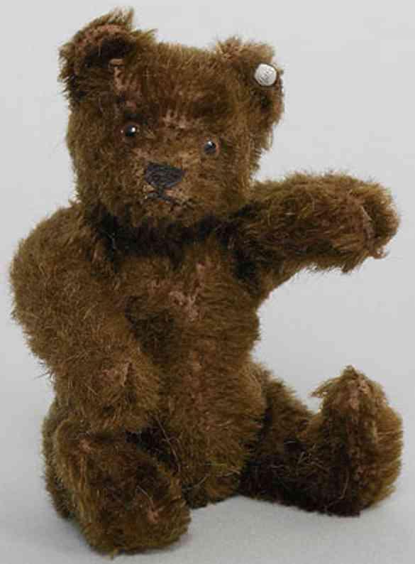steiff 5315 baer dunkelbrauner teddy