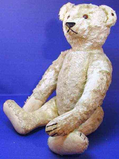 steiff 5635,2 bear teddy silk plush blond