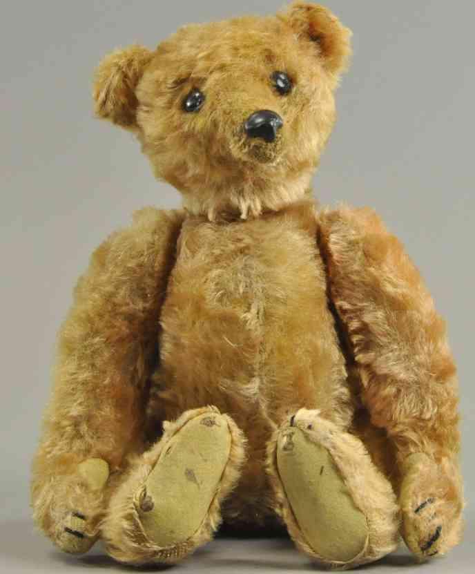 steiff erster teddybaer mit elefantemknopf apriko schuhknopf augen