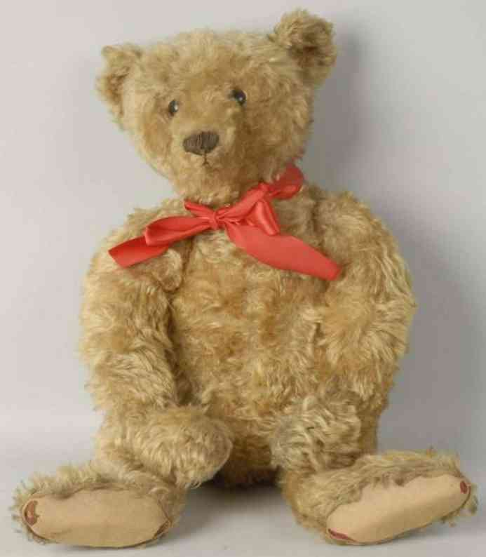 steiff teddy bear gold mohair