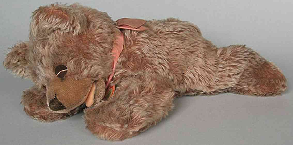 steiff floppy zotty bear reddish brown mohair plush