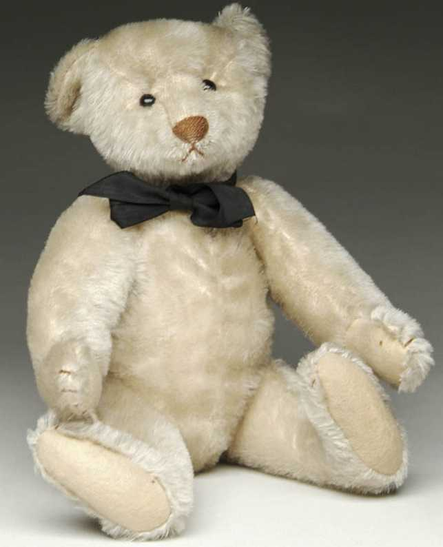 Steiff Blank button white bear